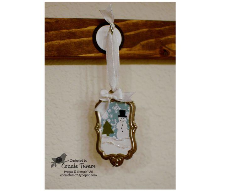 Snowman ornament 12-001